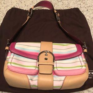 Coach Hampton Stripe shoulder bag